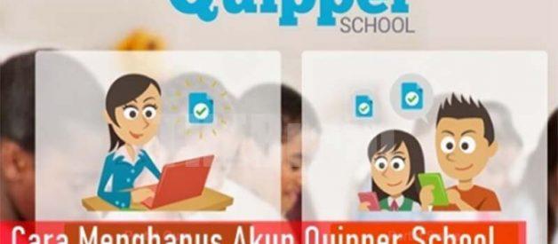 Cara Hilangkan Akun Quipper School