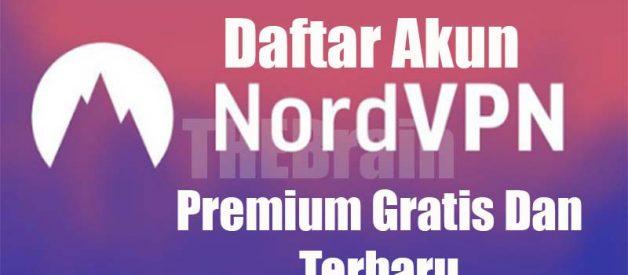 Daftar Akun NordVPN Premium Gratis Dan Terbaru