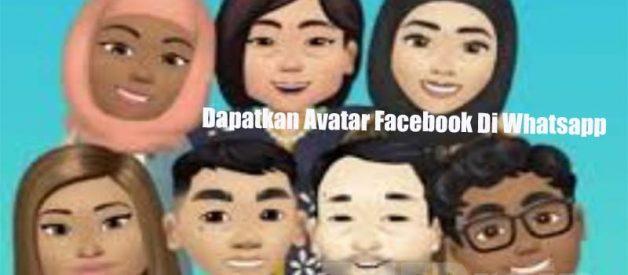 Cara Dapatkan Avatar Facebook Di Whatsapp Mudah