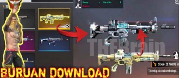 Cara Download Config FF Scar Titan Legendaris Gratis Terbaru