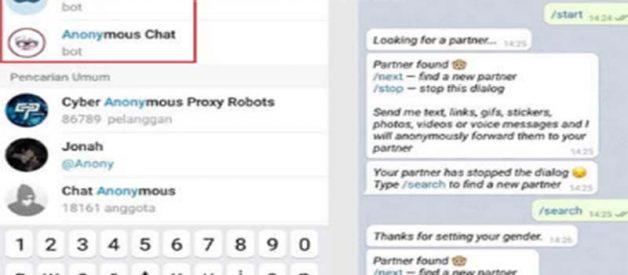 Langkah Anonymous Chat Telegram Dengan Bot