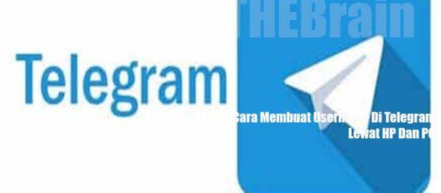 Logo Username Di Telegram Lewat HP Dan PC