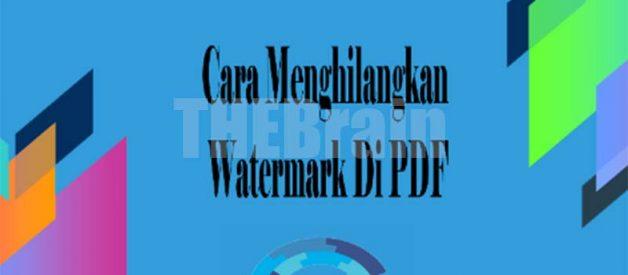 Cara Menghapus Watermark Di PDF Online