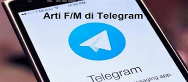 Penjelasan Arti F/M di Telegram