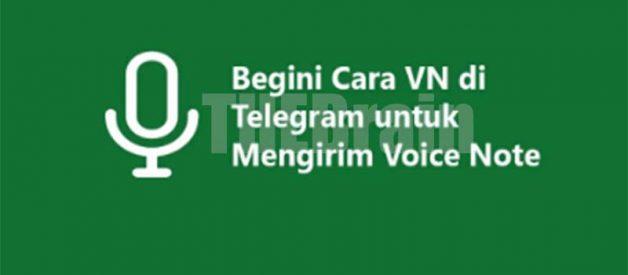 Berkirim VN Di Telegram, Kirim Voice Note