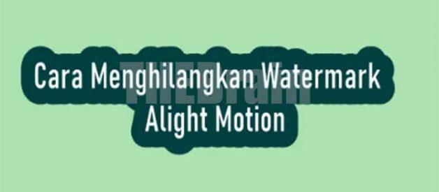 Cara Hilangkan Watermark Alight Motion