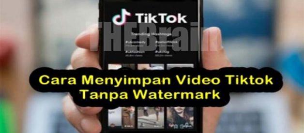 Cara Simpan Video Tiktok Tanpa Watermark Mudah