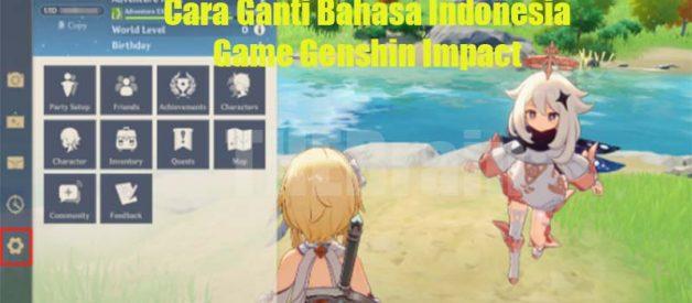 Cara Ganti Bahasa Indonesia Game Genshin Impact