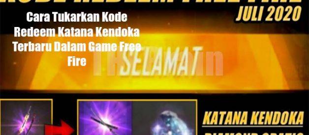 Cara Tukarkan Kode Redeem Katana Kendoka Terbaru Dalam Game Free Fire