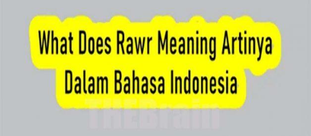 Arti Dari What Does Rawr Meaning Bahasa Indonesia