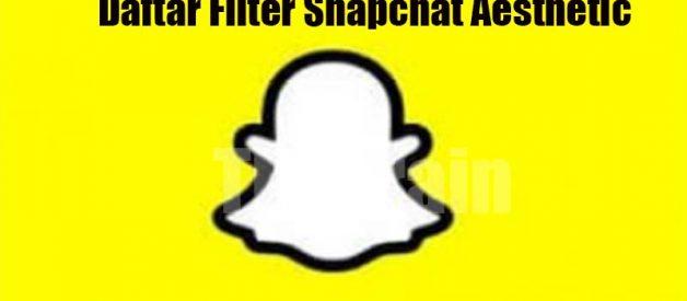Daftar Filter Snapchat Aesthetic