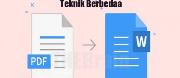 Alasan Mengonversi Dari Word Ke PDF Pakai Teknik Berbeda