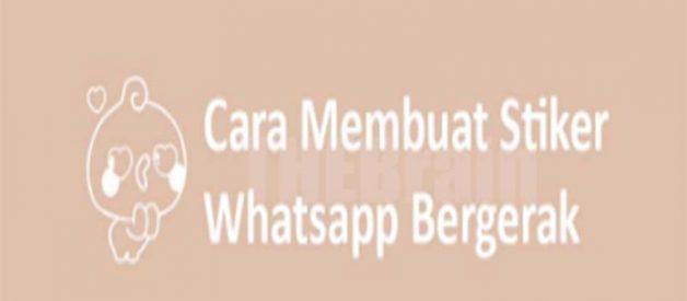 Cara Pasang Stiker Whatsapp Bergerak