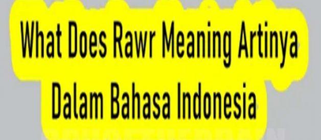 Penjelasan Arti What Does Rawr Meaning Dalam Bahasa Indonesia
