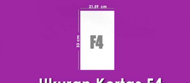 Ukuran Kertas F4 Dan Cara Settingnya